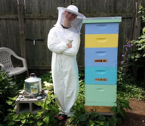 Youth beekeeper